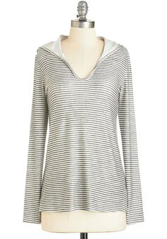 Pilates Into It Top. Give your friends a beginners taste of pilates in this striped ivory top! #grey #modcloth