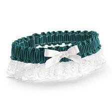 Ribbon and Lace Garter - Jade Blue $7.40