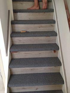 Onze Mooie Trap Voorzien Van Een Combinatie Van Tapijt En Laminaat!  Laminate Stairs, Flooring