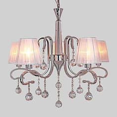 Chandelier , Modern/Contemporary Electroplated Feature for Crystal Metal Living Room Study Room/Office 366523 2017 – $191.03