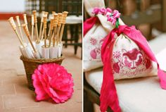 Elabora detalles para tus invitados con el color rosa intenso - Foto Aaron Delesie
