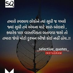 Gujarati Quotes, In My Feelings, Quotations, Rocks, Life Quotes, Inspirational Quotes, Thoughts, Tattoo, Flower