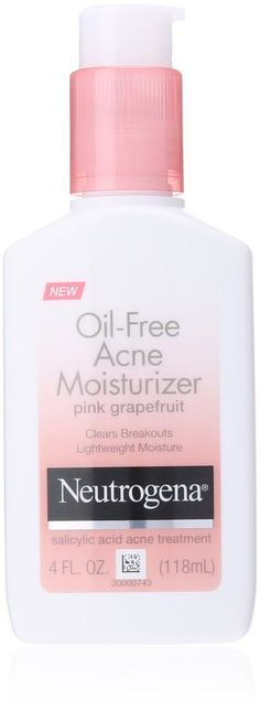 Pin for Later: 13 Drugstore Facial Moisturizers Your Skin Will Love Neutrogena Oil-Free Acne Moisturizer Pink Grapefruit #moisturizeracne #facialcleanserdrugstore