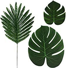 Purchase 36 Pcs 3 Kinds Artificial Palm Leaves Tropical Plant Faux Leaves Safari Leaves Hawaiian Luau Party Suppliers Decorations,Tiki Aloh from liping lin on OpenSky. Artificial Palm Leaves, Artificial Plants, Tropical Leaves, Tropical Plants, Safari, Hawaiian Luau Party, Party Suppliers, Paper Plants, Birthday Table