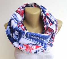 british scarf women scarf men scarf UK scarf flag scarf infinity scarf  London scarf COTTON scarf  unisex 14 inches x 60 inches on Etsy, $21.90