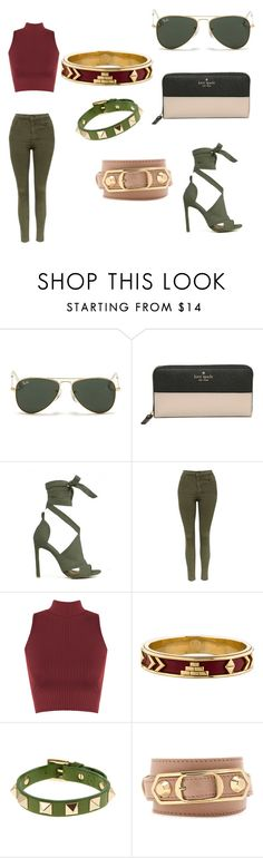 """Untitled #76"" by maddixneal on Polyvore featuring Ray-Ban, Kate Spade, Topshop, WearAll, House of Harlow 1960, Valentino and Balenciaga"