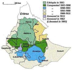 Map Of Ethiopia And Ethiopian Political Map Maps Pinterest - Map of ethiopia