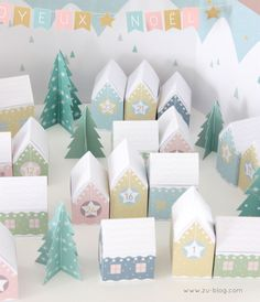 FREE Printable House Advent Calendar