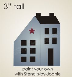 Free Print Primitives Stencil | images of stencil 3 quot saltbox house country colonial folk art sign ...