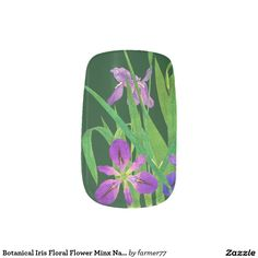 Botanical Iris Floral Flower Minx Nails