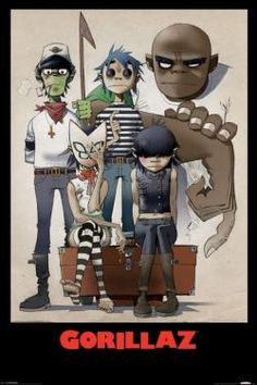 Gorillaz All Here Poster