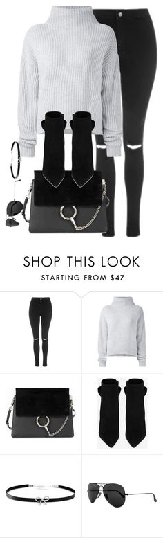 """""""Untitled #2844"""" by theaverageauburn ❤ liked on Polyvore featuring Topshop, Le Kasha, Chloé, Yves Saint Laurent, Giani Bernini and Ray-Ban"""