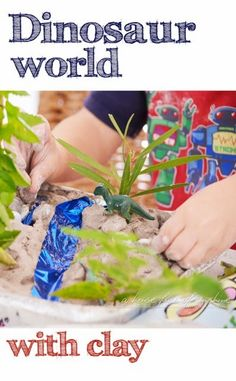 My boys loved creating their own dinosaur world with wonderful, tactile clay! Click through for tips for this simple activity! | A house full of sunshine