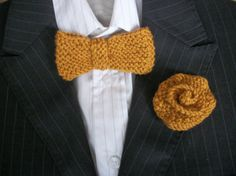 Geeky bow tie and buttonhole set Hand by thekittensmittensuk