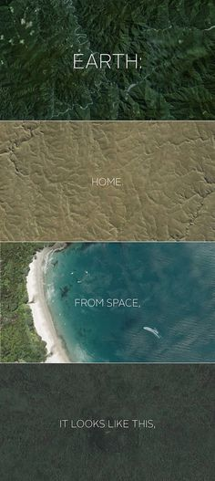 Earth: home. From space, it looks like this... [click through]