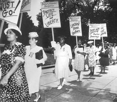 An anti-lynching demonstration by the National Association of Colored Women (NACW).