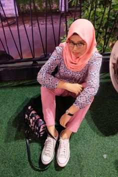 Pink💘 Casual Hijab Outfit, Pink, Outfits, Fashion, Moda, Suits, Fashion Styles, Pink Hair, Fashion Illustrations