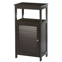 Modern Bathroom Floor Cabinet Free Standing Storage Unit in Espresso Wood Finish- Free Shipping