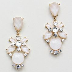 Amberly Earrings in Ivory Iridescence on Emma Stine Limited