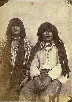 Native  American Men with dreadlocks and  twists.  1800'S