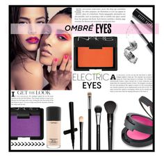"""""""Ombre eyes"""" by dolly-valkyrie ❤ liked on Polyvore featuring beauty, Bobbi Brown Cosmetics, NARS Cosmetics, Topshop, MAC Cosmetics, Lancôme, H&M and ombreeyes"""