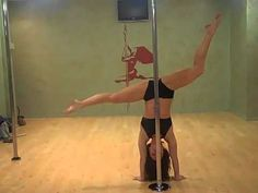 Pole Dancer Jenyne Butterfly Goofing Off With Friends.  She is really amazing.
