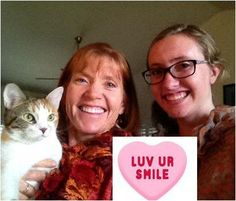 Dr. Oehler's wife and daughter share their Valentine's smiles.