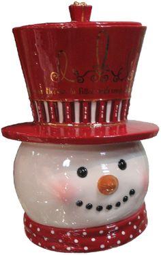 Cute Snowman Cookie Jar
