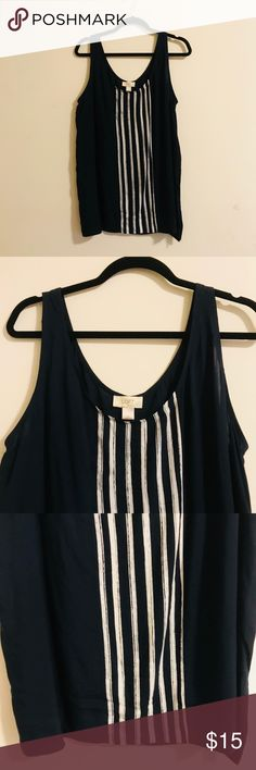 Loft Dress Tank Sleek and professional tank that looks great with blazers and also looks good with cardigans. In excellent condition and from a smoke free home. LOFT Tops Tank Tops