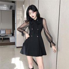 New casual korean fashion. - - New casual korean fashion. Source by Korean Fashion Fall, Korean Fashion Dress, Korean Dress, Ulzzang Fashion, Korean Outfits, Asian Fashion, Korean Blouse, Korean Clothes, Teen Fashion Outfits