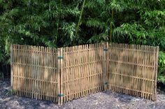 Three-Section Woven Bamboo Screen
