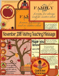 November 2016 Visiting Teaching Message by Studio1Creations on Etsy