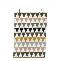 Triangle Tea Towel Multicoloured  Ferm Living