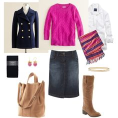 Navy and Pink, created by bluehydrangea on Polyvore