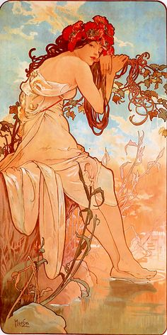Summer by Alfonse Mucha - one of my favourite artists. I have this tattooed on my right shoulder but slightly different.