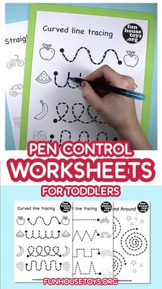 education - Our pen control and tracing printables are a fun way to teach toddlers how to hold and use a pen With Straight Lines and Curved line tracing its a great practice tracing learningwithkids pencontrol worksheets worksheetsforopreschool learningn Preschool Prep, Preschool Writing, Homeschool Kindergarten, Preschool Printables, Home School Preschool, Preschool Journals, Free Preschool, Toddler Preschool, Preschool Phonics