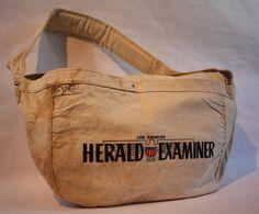 Image of SFV MERCANTILE Newspaper Boy Canvas Bag HERALD EXAMINER Deluxe Edition in Vintage Wash