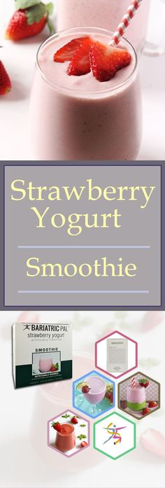 BariatricPal Yogurt Smoothie - Strawberry is a thick and creamy smoothie made with real strawberries, but without the carbs of a regular smoothie. It's easy to make and a luxurious treat for at home or on the go.