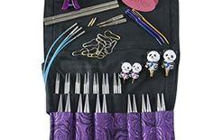 "HiyaHiya Limited Edition Sharp Steel Interchangeable Knitting Needle Set, 4"" Tips"