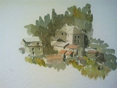 Country house - Savona Watercolour by Francesco Pagnini www.watercoloursundayman.blogspot.com