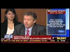 Rand Paul Gives it Straight to Hillary Clinton: You Are to Blame for Benghazi! Should be Fired! Video