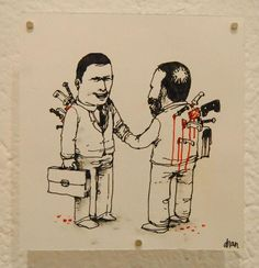 DRAN. French street artist Dran uses his art to comment on issues concerning contemporary society.