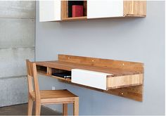Mash Studios Has A Handsome And Sleek Solution For A Modern Desk And  Space Saving Storage Shelf.
