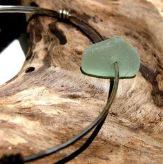 Hawaiian Aqua Beach Glass Wire Bangle Bracelet. Handmade with Aloha! only $10.00!!
