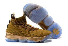 ddfa81af3351 Elegant Shape Nike LeBron 15 Pride of Ohio Gold Men s Sneakers Basketball  Shoes