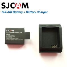 SJCAM Brand Accessories Battery and Battery Desktop Charger For SJ CAM SJ4000 SJ5000 M10 Series Action Sport Camera