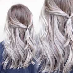 Best Platinum Blonde Hair Color and Highlights for 2018 Platinum White Blonde Balayage Ombré White Ombre Hair, Ombre Hair Color, Hair Color Balayage, Cool Hair Color, Ashy Blonde Hair, Platinum Blonde Hair Color, Silver Blonde Hair, Blonde Color, Brown Blonde