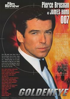 A great poster from the Film Review series! Pierce Brosnan is Agent 007 in the James Bond movie Goldeneye! Includes cast / crew info and a synopsis. Fully licensed - 2002. Ships fast. 24x34 inches. He