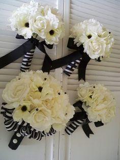 Nautical Wedding Silk Flower Wedding SetFrench by modagefloral, $400.00