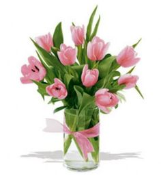 Precious Tulips   TF10PT      So pretty, so perfect, so delicate. These ten artistically arranged tulips are just about the sweetest gift ever for that special someone in your life.    Ten tulips arranged in a clear glass vase, tied with a matching ribbon.  Available in many colours.     https://www.4165flower.com/index.asp?pid=4=viewproduct=9596=23